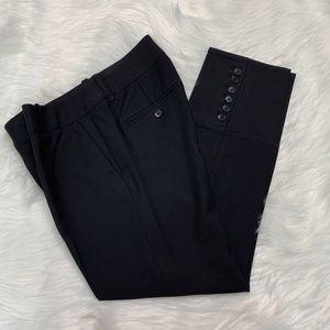 Black ankle pant trouser button by Ann Taylor